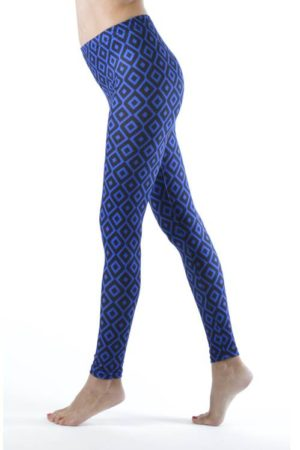 Royal Blue Diamond Footless Leggings