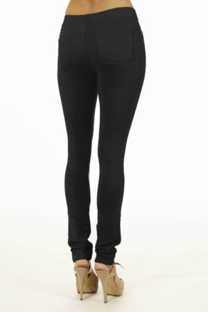 Black Brazilian Moleton Jeggings