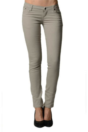 Stone Colored Denim - Skinny Jeans Fit