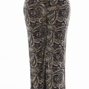 High Waisted Paisley Plus Size Wide Leg Pants