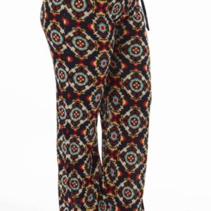 Festival Tribal Print Plus Size Bell Bottom Pants