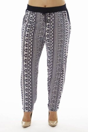 Tribal Print Plus Size Soft Pants