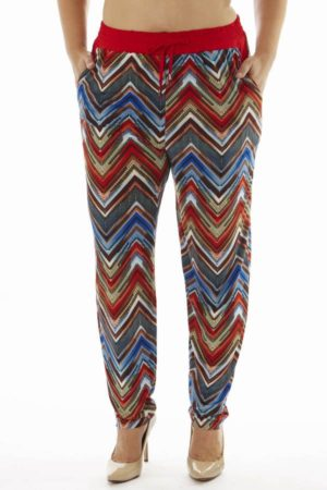 Plus Size Ruby Chevron Print Soft Pants