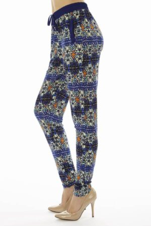 Geometric Print Soft Pants