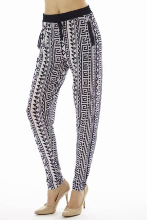 Geometric Tribal Print Jogger Pants