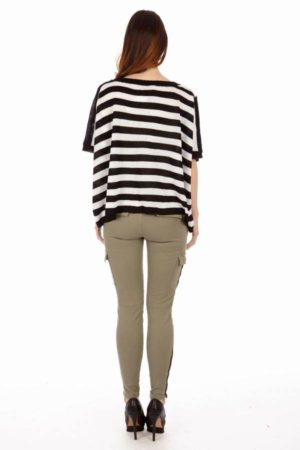 Egyptian Balck and White Stripe Top