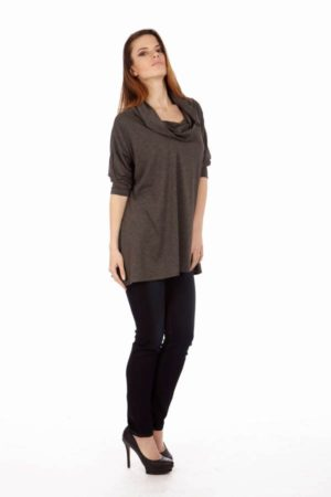 Dark Grey Long Sleeve Tunic