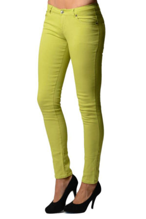 Green Apple Colored Denim - Skinny Jeans