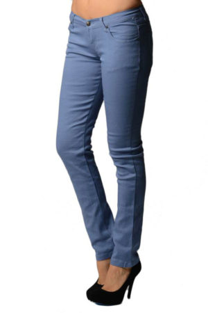 Blueberry Colored Denim Skinny Jeans