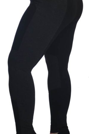 Plus-Size Black Trim Jeggings