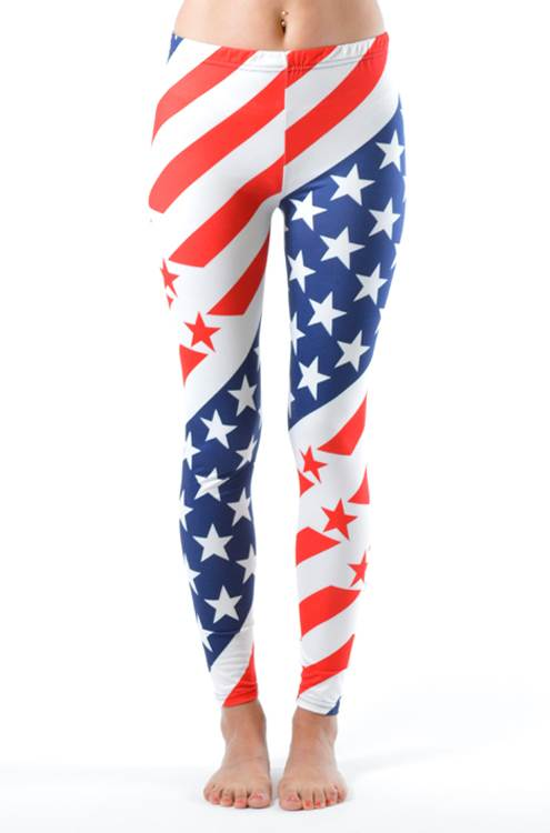 USA Olympic Style Ankle Length Leggings