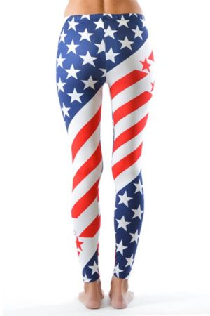 USA Olympic Style Plus Size Leggings