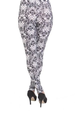 Victorian Fishnet Pattern Plus Size Leggings