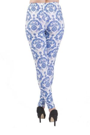 Vintage Flair Blue Plus Size Leggings