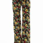 Flared Floral Wide Leg Pants