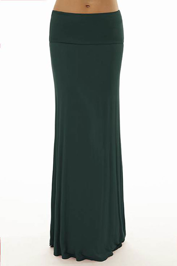 fold jade green maxi skirt fashion outlet nyc
