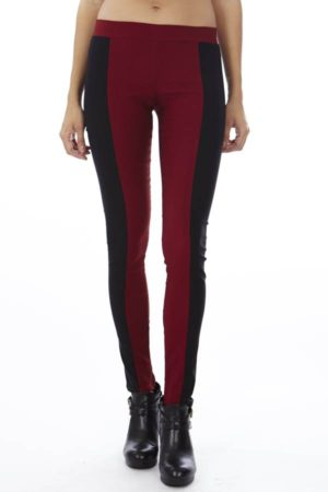 Revolt's Burgundy Block Leggings