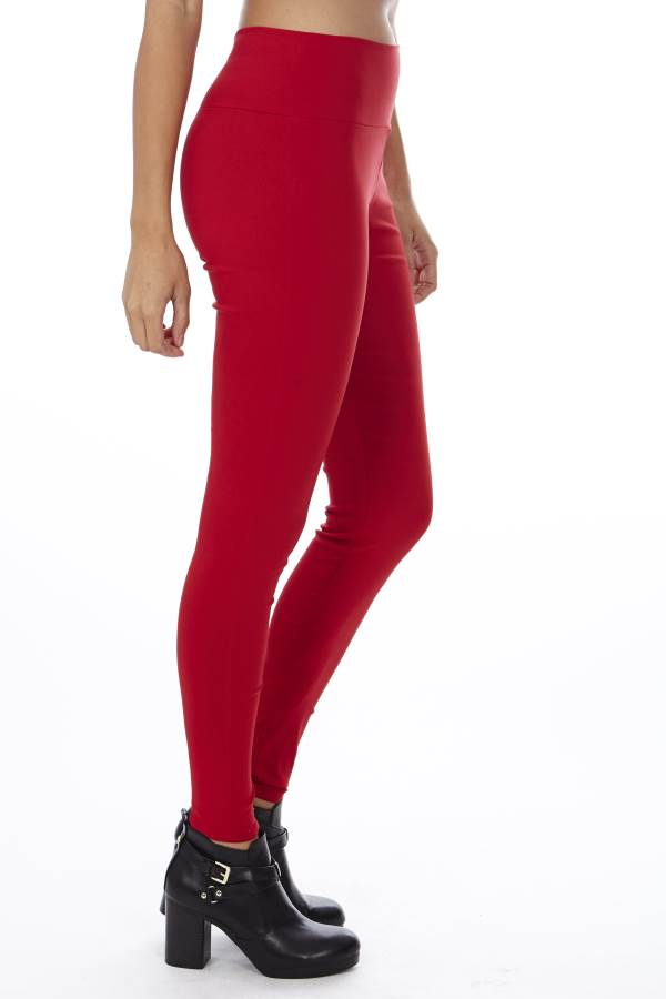 Stretchy High Waisted Red Yoga Style Pants