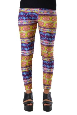 Funky Fresh Boho Paisley Plus Size Ankle Leggings