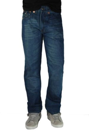 Tough Rebel Straight Leg Denim Jeans - Dark Blue