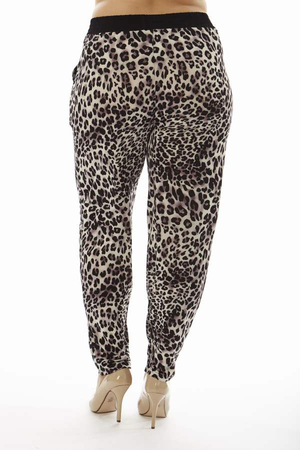 Leopard Print Plus Size Soft Pants