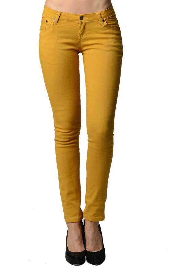 Mustard Ankle Tight Jeans