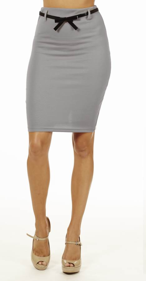 Classic Charcoal High Waisted Pencil Skirt