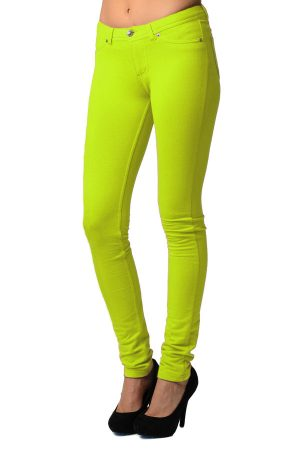 Bright Moleton Stretchy Jeggings with Pockets