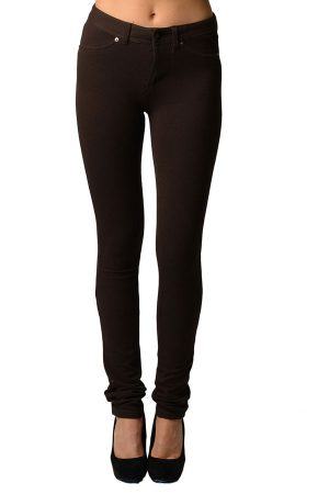 French Moleton Stretchy Jeggings with Pockets
