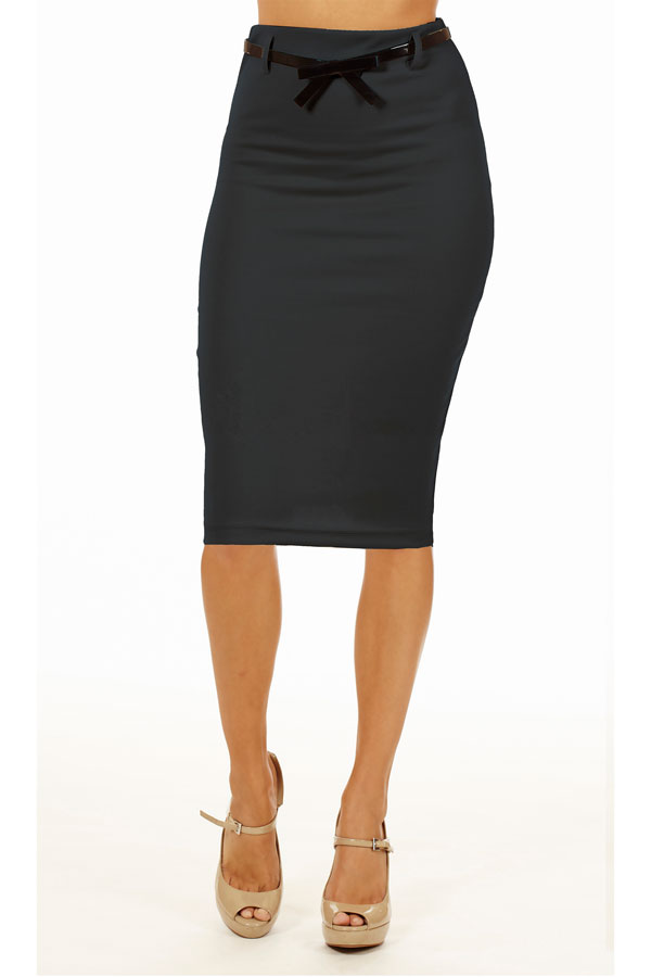 grey below knee pencil skirt fashion outlet nyc