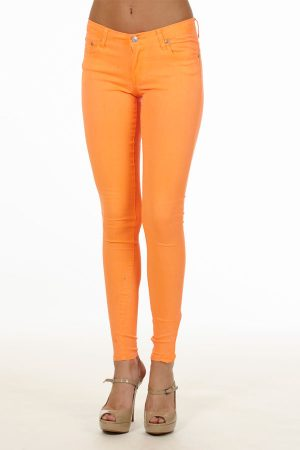 Hot Orange Skinny Jeans