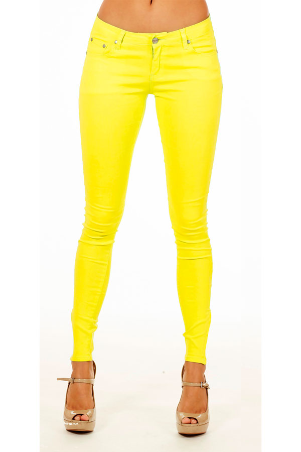 Super cute! These jeans are soft and comfy but still the look of nice, crisp denim. Skinny fit but not skin tight. The adjustable waistband is great (why does anyone make kids pants without one?) The color is right on- a solid mustard yellow without being too bright. Overall great pants.
