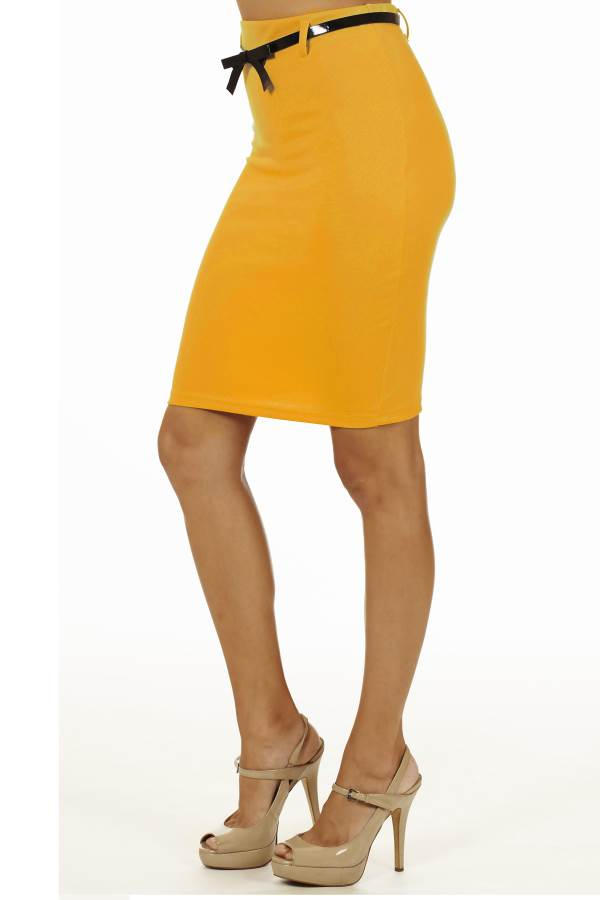 s mustard high pencil skirt fashion outlet nyc
