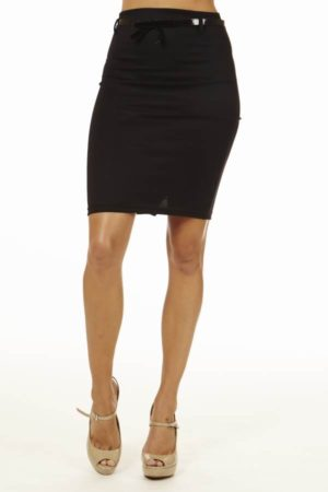Black High Pencil Skirt