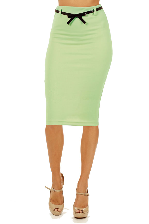 mint below knee pencil skirt fashion outlet nyc