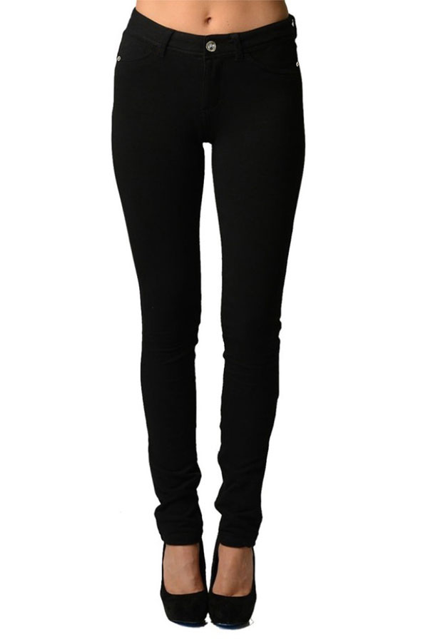 Black Moleton Stretchy Jeggings with Pockets