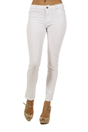 White 5 pocket skinny pants