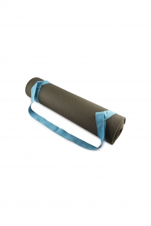 Blue Adjustable Cotton Yoga Mat Carrying Strap