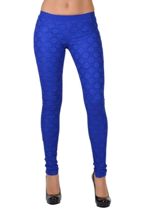 royal all-over lace pants
