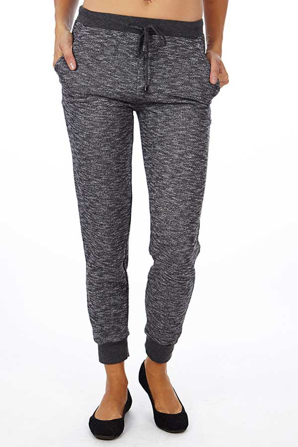 Black Heather French Terry Joggers