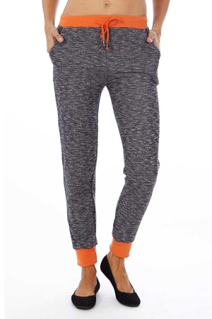 Neon Orange Heather French Terry Joggers