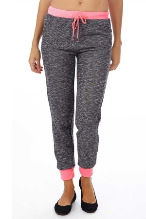 Neon Pink Heather French Terry Joggers