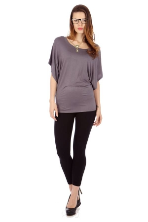 Grey Flowing Angel Tunic Blouse