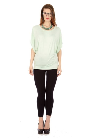 Mint Flowing Angel Tunic Blouse
