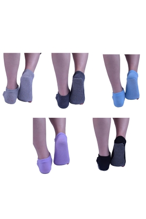 Pilates Yoga Socks for Women Non Slip with Grip