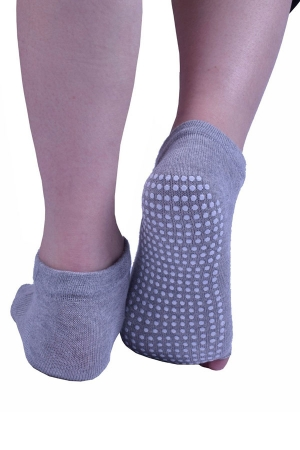 Light Grey Pilates Yoga Socks for Women Non Slip with Grip