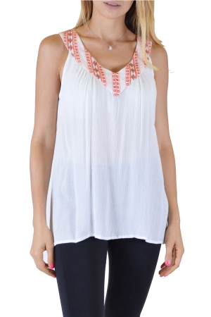 White Printed Anil Top