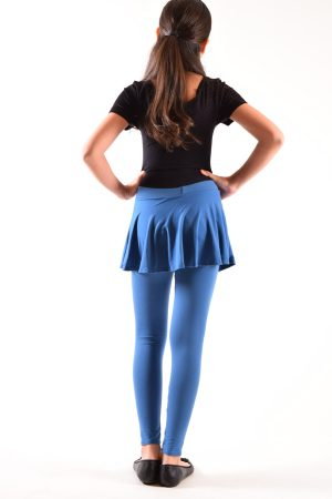 Girls Denim Color Skirt Leggings