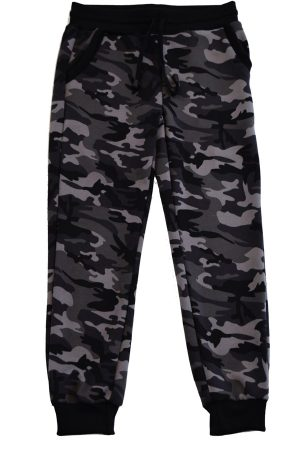 Kids Gray and Black Army Joggers
